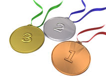 Olympic medals Royalty Free Stock Photos