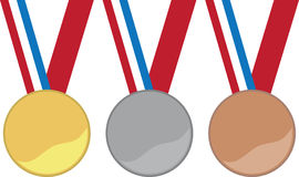 Olympic Medals Stock Photography
