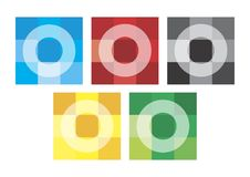 Olympic mosaic. Olympic rings in the form of a mosaic. Vector format Stock Image