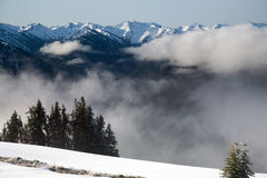 Olympic Mountain Range Stock Images