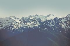 Olympic Mountain Range Stock Image