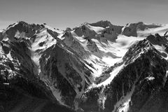 Olympic Mountains BW Royalty Free Stock Images