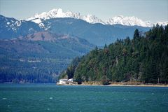 Olympic mountains/Hood canal Stock Images