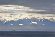 Olympic Mountains, Strait of Juan de Fuca Stock Photo