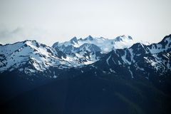 Olympic Mountains USA Stock Images