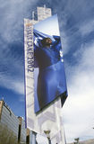 Olympic mural in Salt Lake City, UT during 2002 Winter Olympics Stock Photos