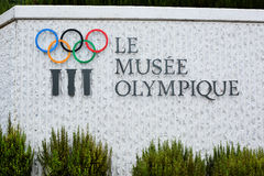 Olympic Museum Sign Royalty Free Stock Images