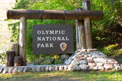 Olympic National Park Sign Royalty Free Stock Images