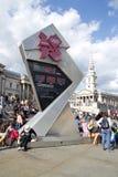 olympic nedräkning för 2012 klocka Arkivbild