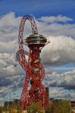 Olympic orbit sculpture tower london. The ArcelorMittal Orbit is a 114.5 metre tall sculpture and observation tower in the Queen Elizabeth Olympic Park in Stock Photography