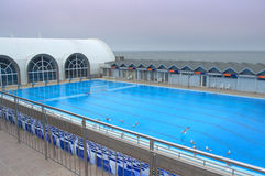 Olympic outdoor swimming pool Royalty Free Stock Photos
