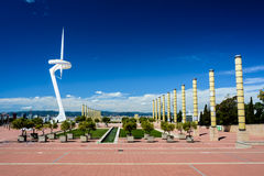 Olympic park, Barcelona landscape Royalty Free Stock Photo