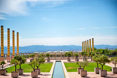 Olympic park in Barcelona. Montjuic Olympic park in Barcelona. Barcelona held the 1992 Summer Olympic Games Stock Image