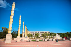 Olympic park in Barcelona. Montjuic Olympic park in Barcelona. Barcelona held the 1992 Summer Olympic Games Stock Photography
