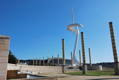 Olympic Park in Barcelona Royalty Free Stock Photography