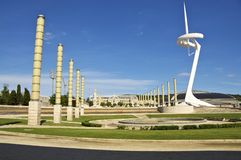 The Olympic Park Montjuic, Barcelona Royalty Free Stock Photo