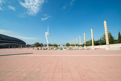 Olympic Park Montjuic in Barcelona Stock Image