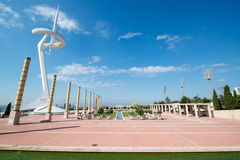 Olympic Park Montjuic in Barcelona Royalty Free Stock Photo