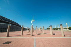 Olympic Park Montjuic in Barcelona Royalty Free Stock Image