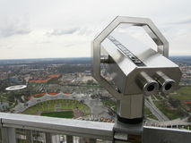 Olympic Park in Munich. And look from the sight tower Stock Photography