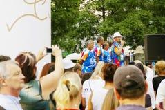 Olympic park Opening Parade Sportsmen Royalty Free Stock Photos