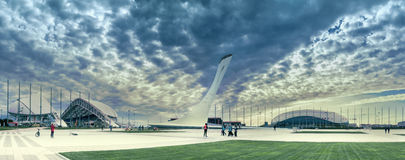 The Olympic Park in the resort city of Sochi, Krasnodar Krai, Russia Royalty Free Stock Image