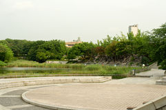 Olympic park in Seoul in summer, South Korea Stock Image