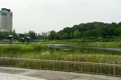 Olympic park in Seoul in summer, South Korea Stock Photos