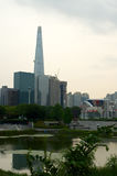 Olympic park in Seoul in summer, South Korea Royalty Free Stock Photography