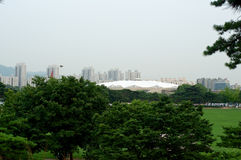Olympic park in Seoul in summer, South Korea Royalty Free Stock Image