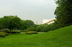 Olympic park in Seoul in summer, South Korea Royalty Free Stock Photos