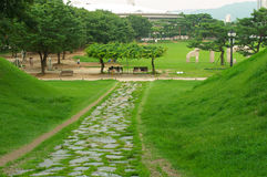 Olympic park in Seoul in summer, South Korea Stock Photography