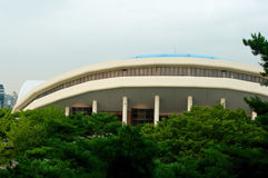 Olympic park in Seoul in summer, South Korea Royalty Free Stock Images