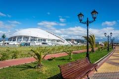 In the Olympic Park of Sochi, Krasnodar region, Russia, October. In the Olympic Park in Sochi city on a clear, Sunny day, Krasnodar region, Russia, October 8 Stock Images