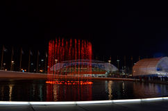 Olympic park in Sochi at night Royalty Free Stock Images