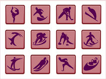 Olympic pictograms Royalty Free Stock Photos