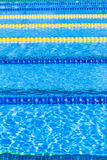 Olympic Pool Corridor Cables Floating Stock Photography