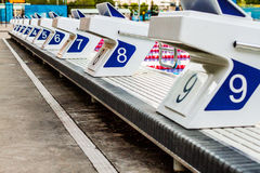 Olympic Pool Starting Blocks Stock Image