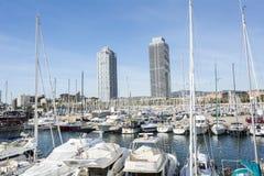 Olympic Port of Barcelona, Spain Stock Photos