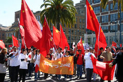 Olympic protest san francisco. Protesters in San Francisco were disappointed to find that the torch relay route was changed at the last minute by organizers to Stock Images