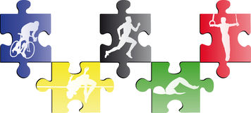Olympic puzzle. Vector illustration of olympic puzzle Stock Photography