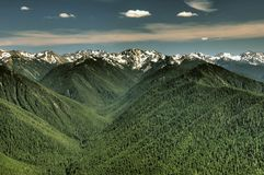 Olympic range and valleys Stock Photo
