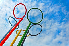 Olympic rings Royalty Free Stock Images