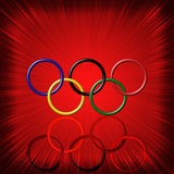 Olympic rings background Royalty Free Stock Images