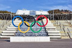 Olympic rings. Royalty Free Stock Images