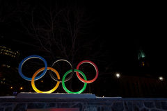 Olympic Rings in Downtown Montreal, Canada Stock Photography