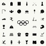 Olympic rings icon. Sport icons universal set for web and mobile stock illustration