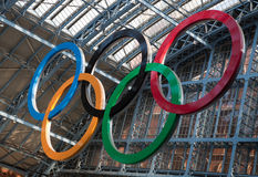 Olympic Rings London 2012 Royalty Free Stock Images