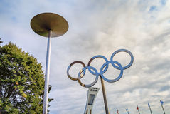 Olympic rings Royalty Free Stock Photos