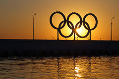 Olympic rings Stock Photos